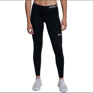 Nike Pro black leggings full length